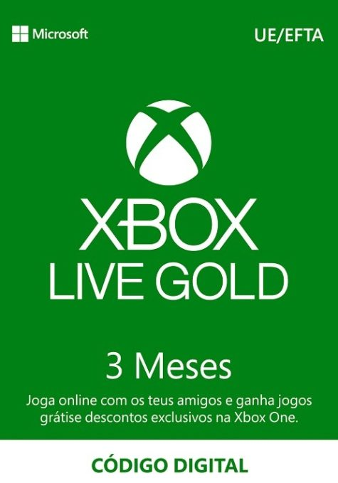 XBOX Live Gold 3 Meses Portugal