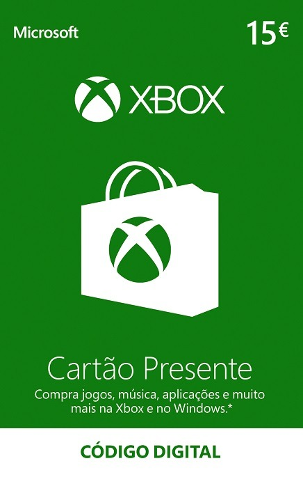 Carregamento XBOX 15 Euros Portugal